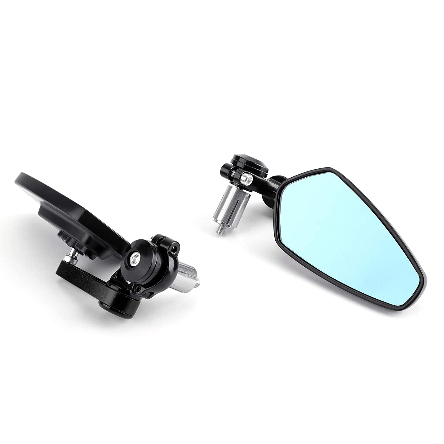 Gold Areyourshop Universal Motorcycle Moto 7//8 22mm Handle Bar End Rearview Side Mirrors