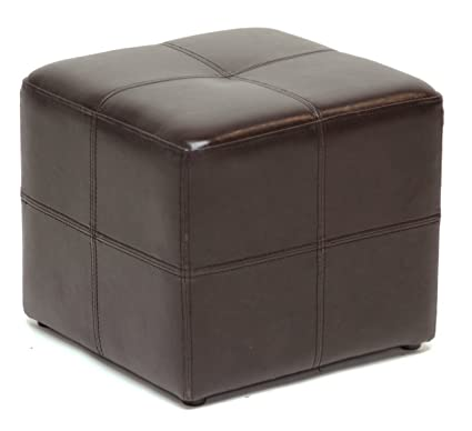 Amazon Com Leather Ottoman Chair Cube Furniture Modern Footstool