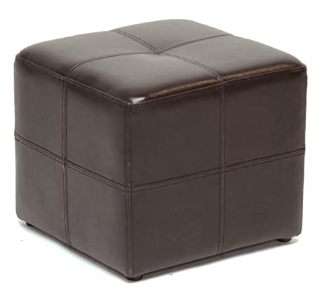 Attrayant Leather Ottoman Chair Cube Furniture Modern Footstool Footrest Square