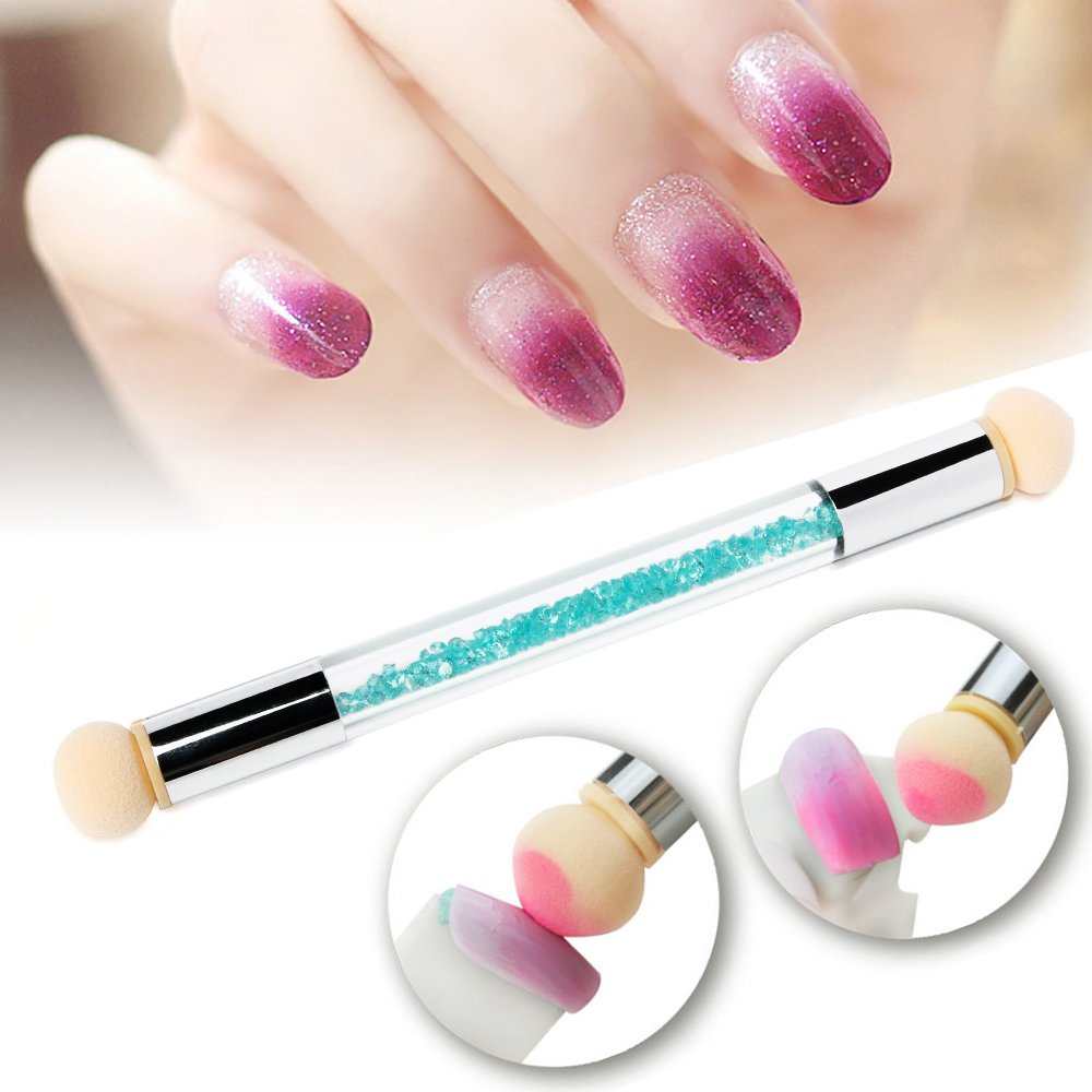 Amazon.com: PrettyDiva Nail Art Brush, Dual Tipped Ombre Nail Art ...