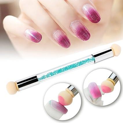 Buy Prettydiva Nail Art Brush Dual Tipped Ombre Nail Art Sponge
