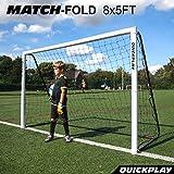 QuickPlay Match-Fold Soccer Goal (8x5') with 2YR Warranty