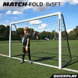 QuickPlay Match-Fold Soccer Goal (8×5′) with 2YR Warranty For Sale