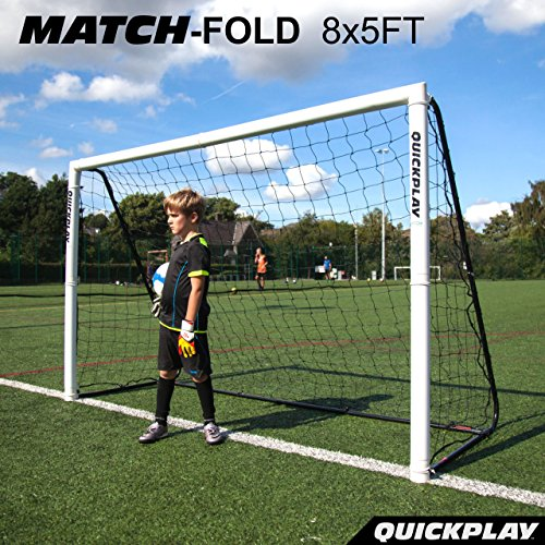QuickPlay Match-Fold Soccer Goal (8x5') with 2YR WARRANTY (Soccer Goal Post Size)