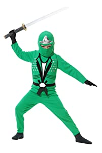 Charades Ninja Avenger Series II Child's Costume, X-Small Jade