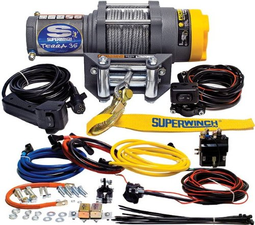 - Superwinch 1135220 Terra 35 3500lbs/1591kg single line pull with roller fairlead, handlebar mnt toggle, handheld remote
