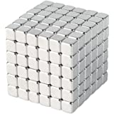 HENGBANG 3mm Magnetic Cube Puzzle. Magic Metal Square Cube Fidget Toy. Prime Quality Office Desk Stress Relief Toy for Adults 216PCS