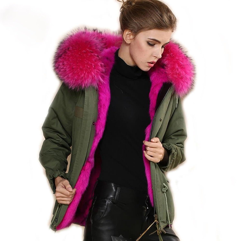 Jacken mit rosa fell