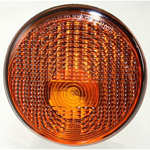 DAT AUTO PARTS Amber Lens Grille Mounted Front Signal Parking Light Lens and HOUSING Replacement 07-13 Jeep Wrangler CH2531103 Right Passenger -