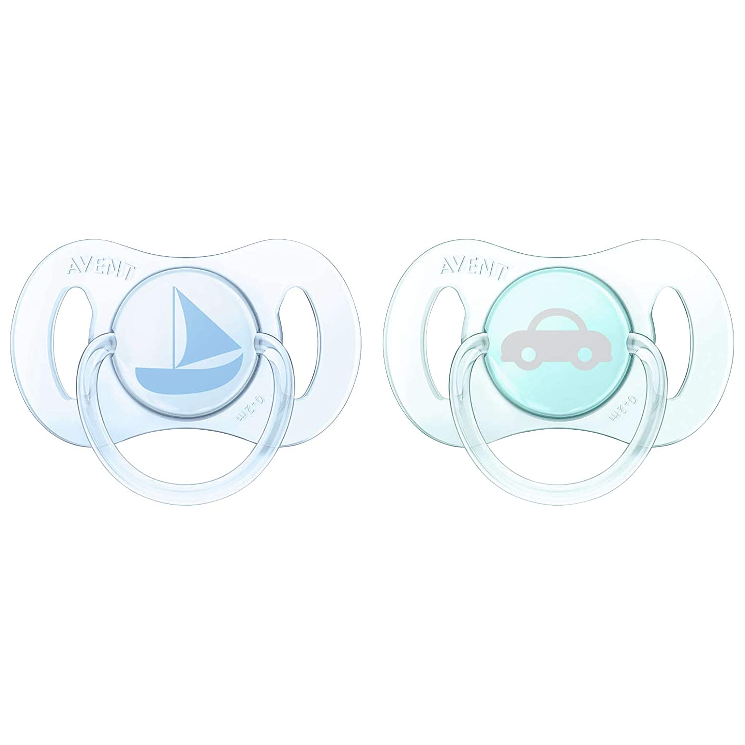 Amazon.com: Philips Avent Sailboat/Car Pack de dos chupetes ...
