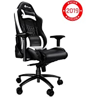 KLIM Esports - Chaise Gamer Très Haute Qualité - Nouveau - Finitions Soignées - Ajustable - Ergonomique - Inclinable - Confortable - Siege Bureau - Coussins Noir [ Nouvelle 2019 Version ]