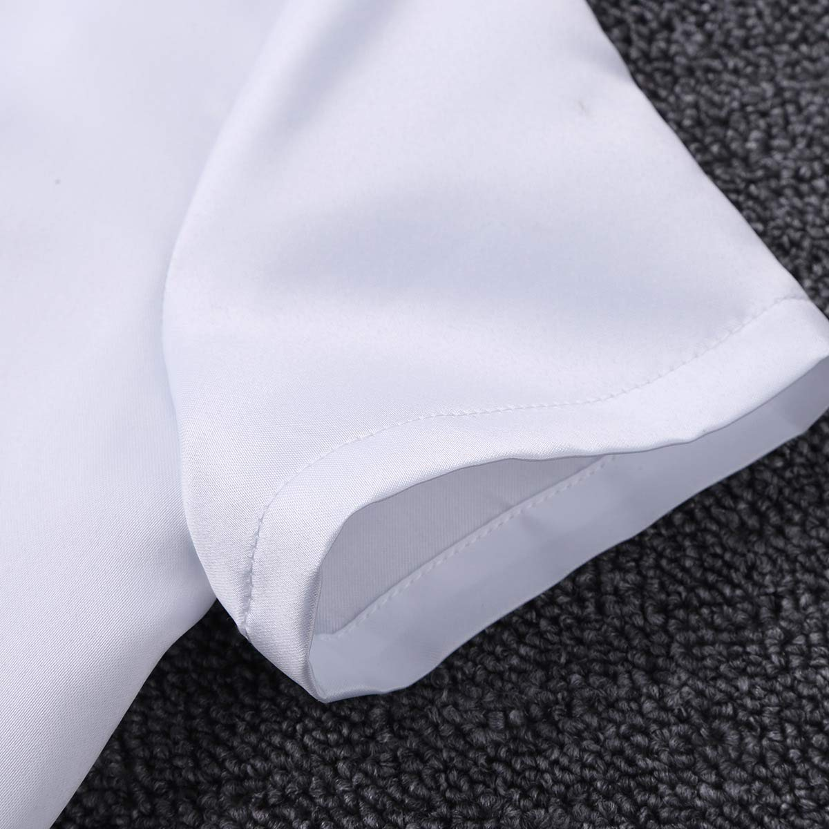 Agoky Kids Little Girls Short Sleeves Satin Bolero Jacket Shrug Cardigan Wedding Bridesmaid Party Formal Dress Cover up