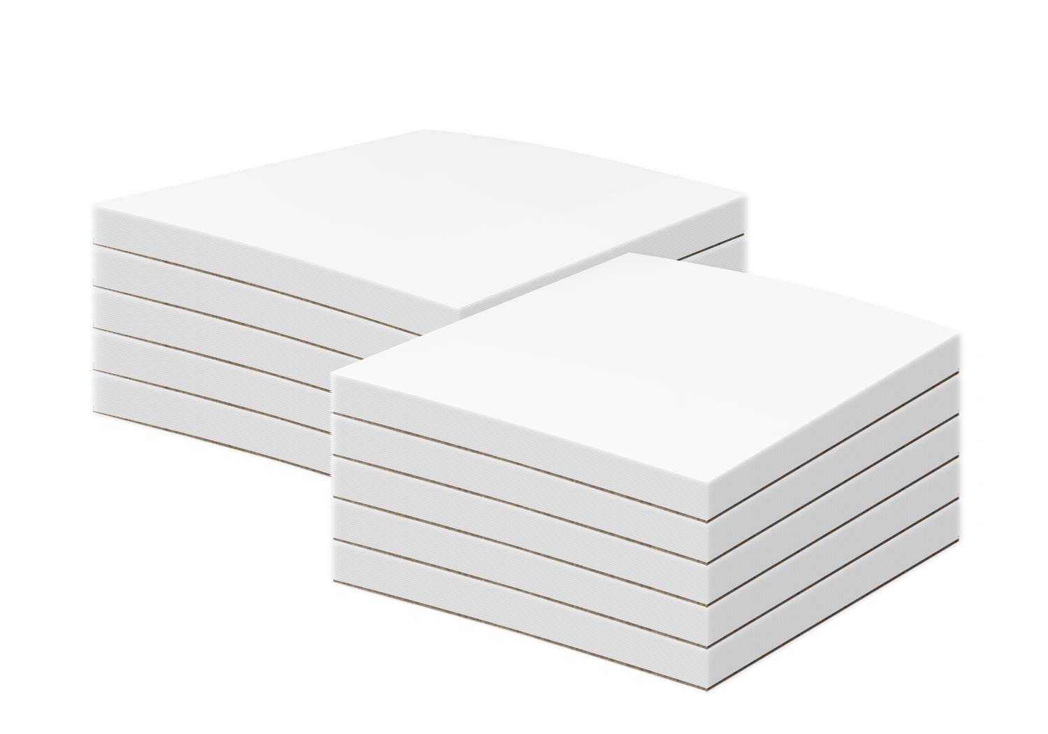White Memo Pads, 50 Sheets Per Pad, (10 Pads Per Pack) with a Chipboard on the Back. (8 1/2 x 11)