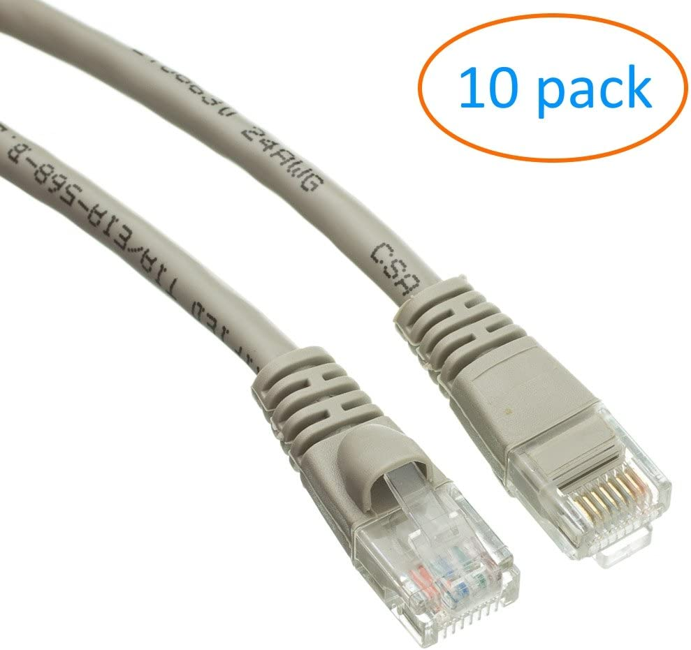 HP 20Ft Cat5e Non-Booted Unshielded Network Cable Renewed