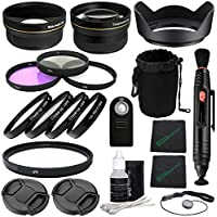 58mm Professional Accessory Kit for Canon EOS Rebel DSLR Bundle with Fisheye and Wide Angle Lenses