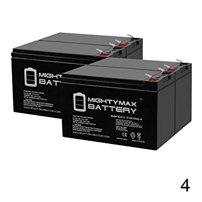 Mighty Max Battery 12V 8Ah Go-Ped ESR750, Electric Speed Racer 750 Scooter Battery - 4 Pack Brand Product: Electronics