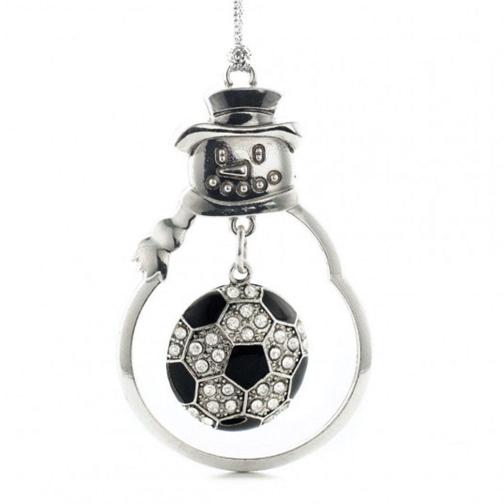 MadSportsStuff Christmas Ornament with Crystal Soccer Ball charm