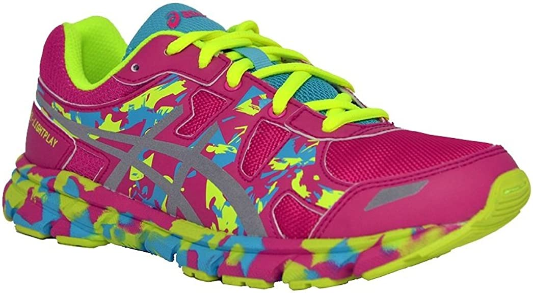 Asics - Zapatillas de running para mujer rosa HOT PINK/SILVER/BLUE ATOLL 17.5 rosa Size: 35.5: Amazon.es: Zapatos y complementos