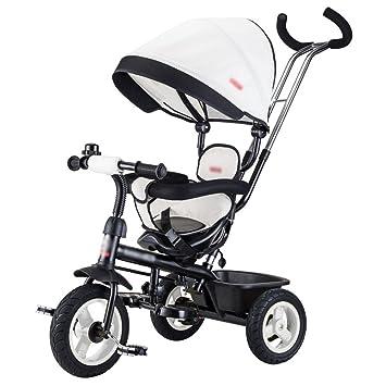 Triciclos niños Carrito de bicicleta Carro de bebé Bicicleta infantil Trike Niños 3 ruedas (Color : Blanco) : Amazon.es: Juguetes y juegos
