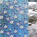Bloss Decorative Window Film Stained Glass Window Film Privacy Film Glass Films Window Cling Film Static Cling Anti UV Heat Control for Home Décor, 17.7-by-78.7 Inches