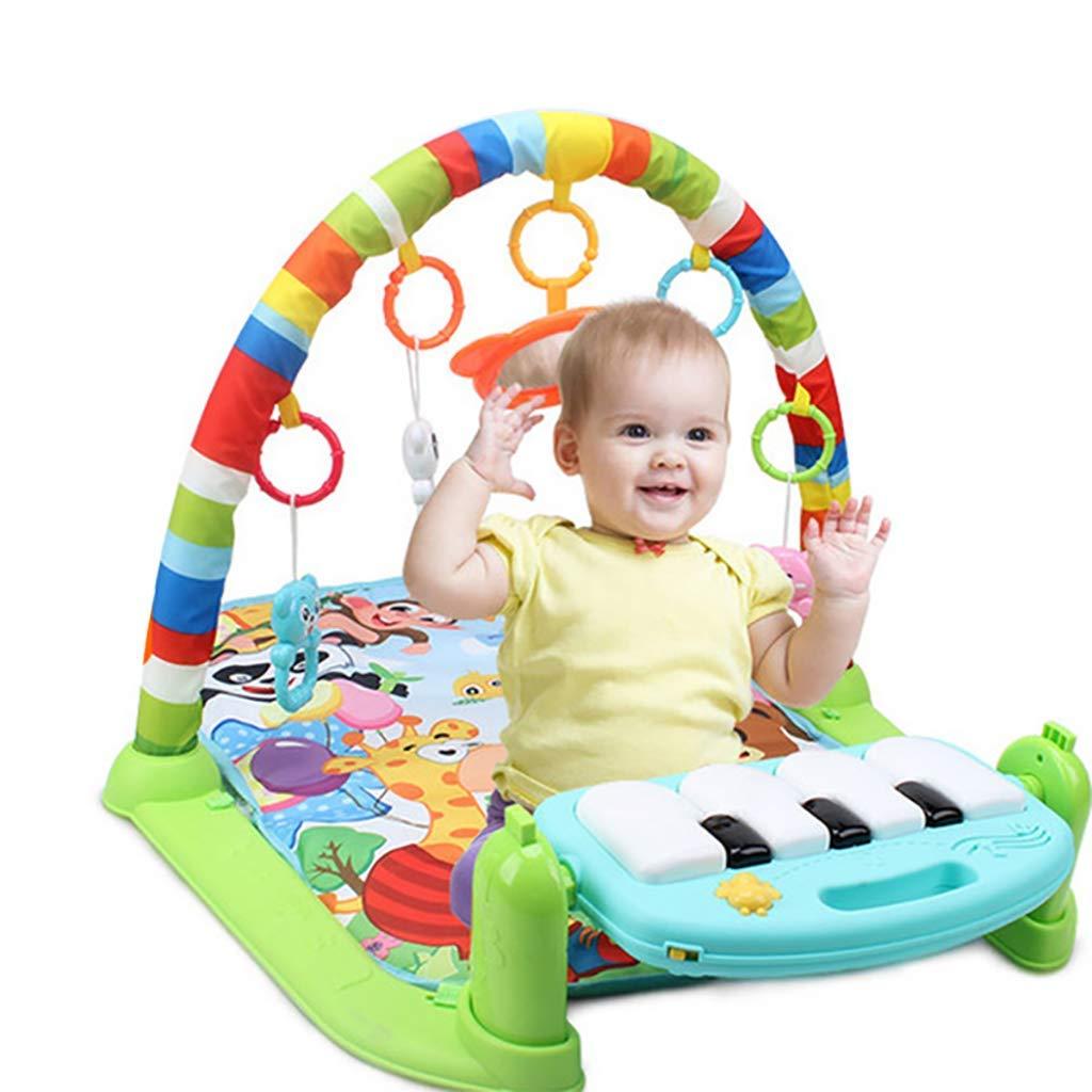 L@ily Tapis de Jeu pour bébé Gymnase, Tapis de Jeu pour Le Fitness 3 en 1 avec Piano, Centre de Fitness, Musique et Sons, éducation précoce pour Tout-Petit