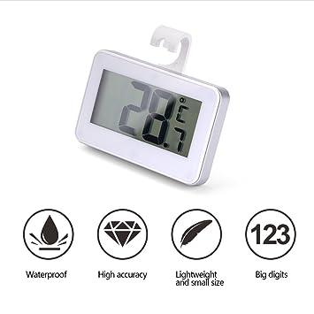 kühlraum de termómetro, digital de termómetro para congelador y kühlraum con gran pantalla LCD de