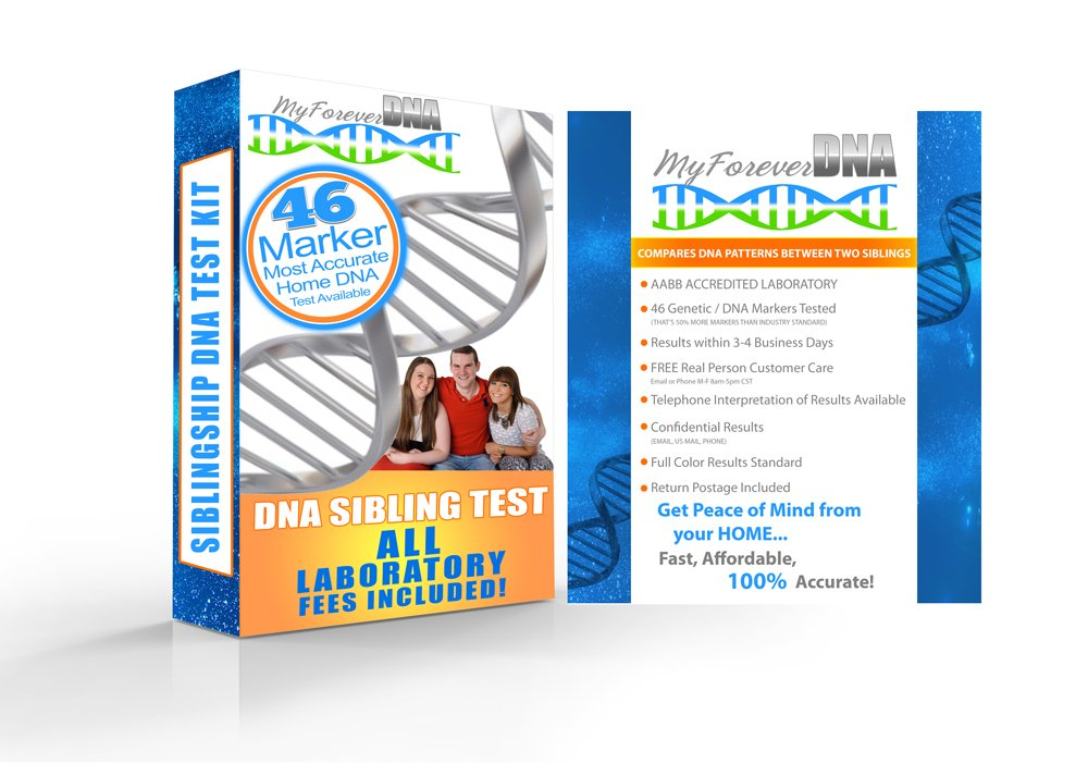 SIBLINGSHIP DNA TEST KIT (At-Home) *MOST ADVANCED & ACCURATE DNA TEST on the Market Today - 46 DNA MARKERS Tested* Find out if you are Full, Half, or Unrelated