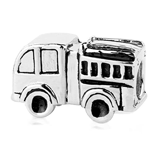 103534424 Image Unavailable. Image not available for. Color: Jovana Sterling Silver  Fire Truck Bead Charm, Fits Pandora Bracelet