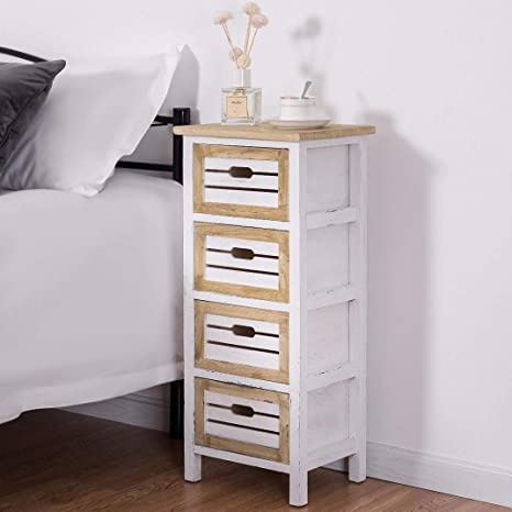 wooden chest bedside table modern