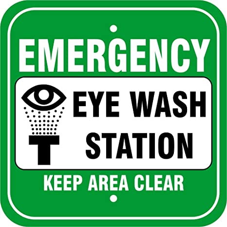 emergency eye wash station 12 x 18 warning signs laboratory signs - Eye Wash Station Osha