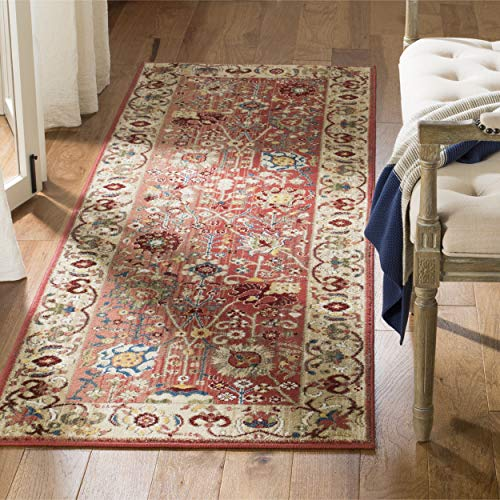 Safavieh Kashan Collection KSN303L Traditional Red and Beige Area Rug (2'6