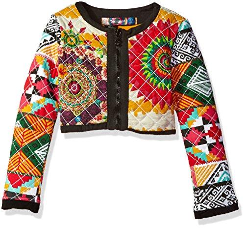 Desigual Little Girls' Sweater Crucero Rep, Curry, 5/6