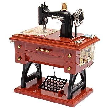 Vintage Mini Máquina de Coser Estilo de Mesa de Música de Plástico Mesa de Mesa de Decoración del Hogar Juguete de Regalo de Juguete para Niños Niños: ...