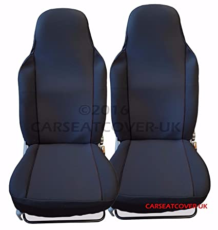 2 BLUE FRONT VEST CAR SEAT COVERS PROTECTORS FOR RENAULT CLIO