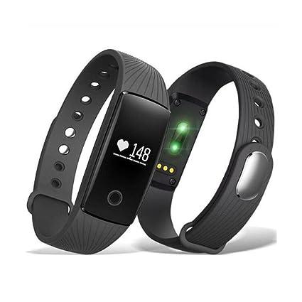 JSGJSH Smart Pulsometer Bracelet Watch Relojes Fitness Monitor de Ritmo Cardíaco de Reloj Alarma vibratoria Smartband