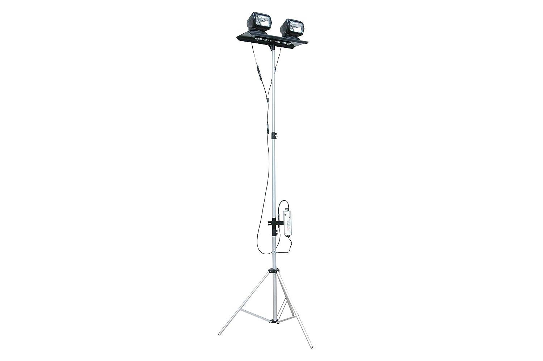 Portátil telescópica luz LED Torre - Dual Control remoto focos - 120 - 277 vac - se extiende de 3,5