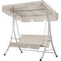 Rehomy Juego de funda para columpio de jardín y patio, impermeable, cubierta superior para asiento de columpio de 3…