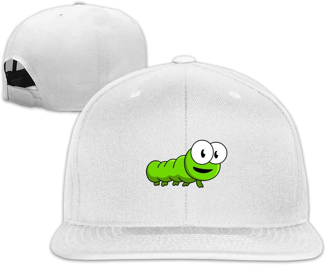 MOCSTONE Unisex Snapback Hat Cute Carpenterworm Adjustable Baseball Cap
