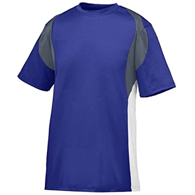 Style 1516 Youth Quasar Jersey (X-SMALL, PURPLE GRAPHITE WHITE)