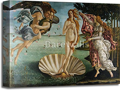 The Birth Of Venus by Sandro Botticelli Gallery Wrapped Canvas Art (16in. x 20in.) by barewalls