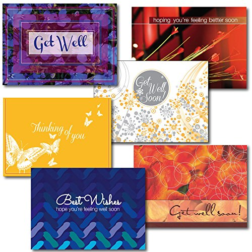 Get Well Greeting Card Assortment. A variety box set of different cards and verses to send to your friends or associates who are sick, having surgery or otherwise incapacitated