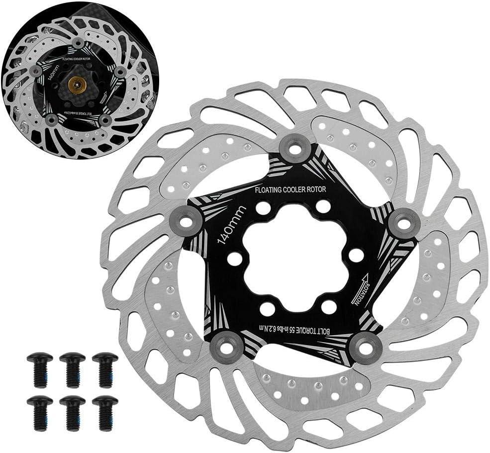MeiLiu Disco Freno da 160 mm Freno a Disco in Acciaio Inossidabile con 6 bulloni HS1 Adatto per la Maggior Parte delle Biciclette
