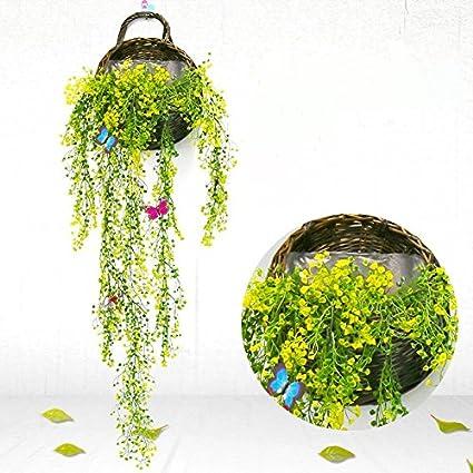 Pianta Edera Artificiale GKONGU 2 Pezzi Pianta realistica con foglie naturali Ideale per la decorazione della casa e dellanno-Rosa