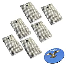 HQRP 6-pack Filter for Bionaire BCM7931-UM BCM7932P-CN BCM7932-UM BCM7933-UM BCM7934-UM Humidifier + HQRP Coaster