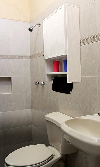 Waterproof Over The Toilet Bathroom Cabinet 1 Door 19 Inch Wide