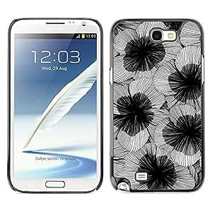 For SAMSUNG Galaxy Note 2 II / N7100 Case , Art Flower Blossoms Design - Diseño Patrón Teléfono Caso Cubierta Case Bumper Duro Protección Case Cover Funda