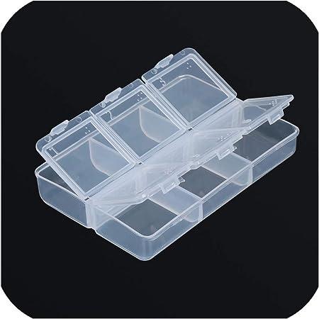 Theoutgoing box 1 Caja de Almacenamiento de plástico Transparente para Pastillas, tabletas, Mini Pastillas, 1 Unidad: Amazon.es: Hogar