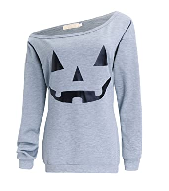Amazon.com: Rjxdlt Women's Halloween Shirts Slouchy Sweatshirts ...