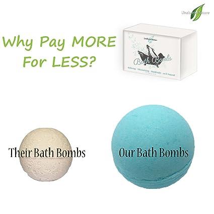 6 XL 41 Oz Vegan Bath Bombs