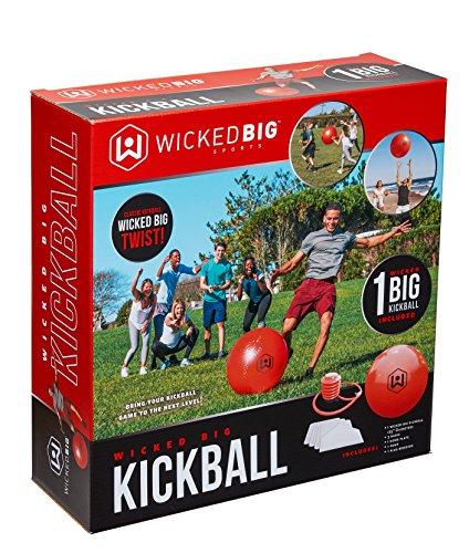 61MqoK5TN1L - Wicked Big Sports Kickball-Supersized Kickball Outdoor Sport Tailgate Backyard Beach Game Fun for All